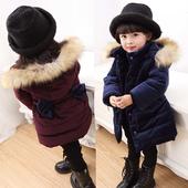 Много стилно детско яке за момичета в два цвята с качулка и декоративна панделка