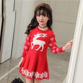 Есенно-зимна детска коледна рокля в три цвята