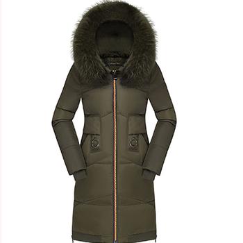 Πολύ ζεστό μακρύ χειμωνιάτικο μπουφάν για κορίτσια με εφαρμογή και κουκούλα με γούνα