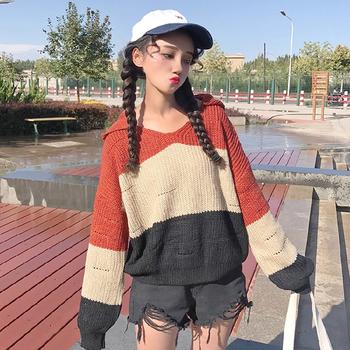 Есенно-зимен плетен дамски пуловер с качулка в три разцветки