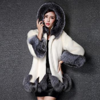 Актуално дамско палто с мек пух по яката, ръкавите и краищата , 2 модела