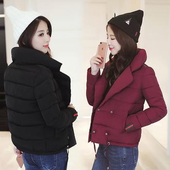 Καθημερινά πολύ ζεστό γυναικείο μπουφάν με απλό σχεδιασμό
