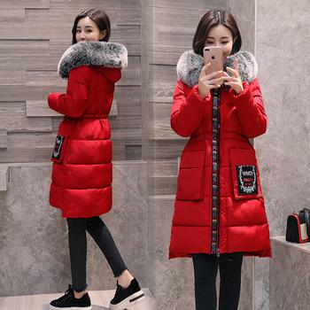 Μοντέρνο χειμερινό γυναικείο μπουφάν με πολύ απαλή γούνα στην κουκούλα, 3 χρώματα
