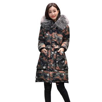 Ένα μακρύ μπουφάν με ένα όμορφη γούνα στο κολάρο, 3 χρώματα