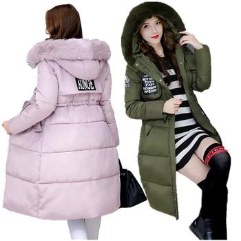Ένα μοντέρνο χειμερινό γυναικείο μπουφάν με κουκούλα, 5 χρωμάτων