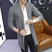 Стилна мъжка дълга плетена жилетка - 5 модела