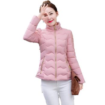 Ежедневно дамско късо якенце с О-образна полувисока яка