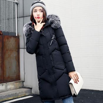 Μακρύ ζεστό γυναικείο μπουφάν με κουκούλα και γούνα - Badu.gr Ο ... 725e7d013fd