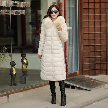Дълго дамско яке за студеното и забързано ежедневие с яка и мек пух