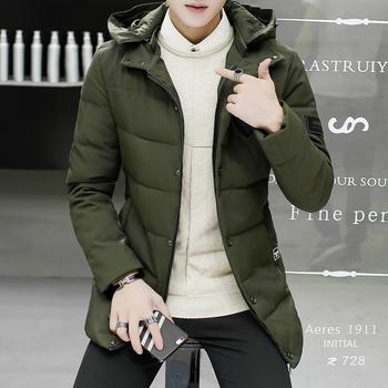 Χειμερινό καθημερινό ανδρικό μπουφάν με κουκούλα και κουμπιά, 3 χρώματα