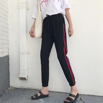 Модерен дамски панталон тип Слим с висока талия
