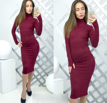 34996d95ca3f Καθημερινό σπορ-κομψό γυναικείο φόρεμα με μακρύ μανίκι - Badu.gr Ο ...