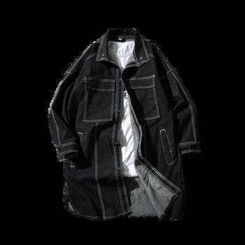 Ανδρικό μπουφάν  denim με μεγάλες τσέπες