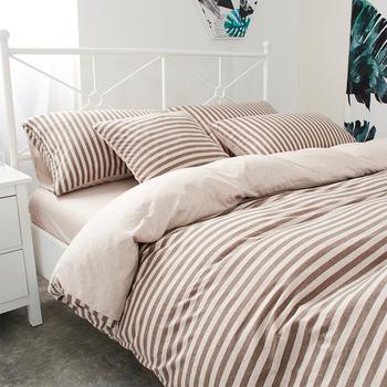 Двулицев спален комплект в няколко цвята на райе