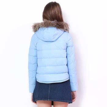 Γυναικείο χειμωνιάτικο μπουφάν σε δύο χρώματα με κουκούλα