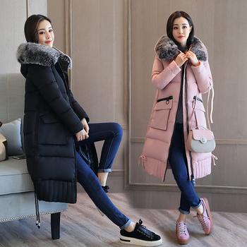 Κομψό χειμωνιάτικο μακρύ μπουφάν με ζεστό και απαλό fleece στο κολάρο, 5 χρωμάτων