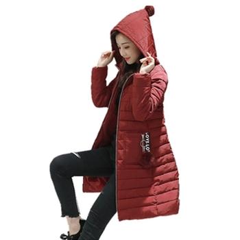Καθημερινό μακρύ γυναικείο μπουφάν με πρακτική κουκούλα - 4 χρώματα
