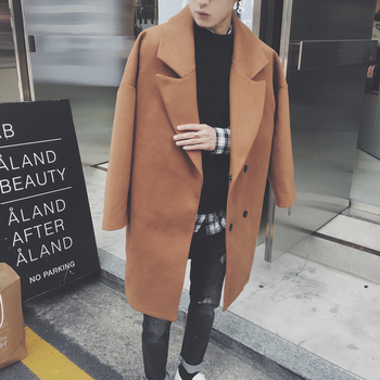 Κομψό μακρύ ανδρικό παλτό σε τρία χρώματα - Badu.gr Ο κόσμος στα ... 710de956da6
