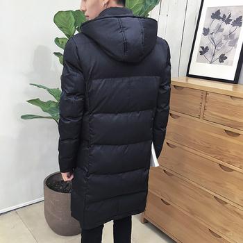 Τρέχον ανδρικό χειμερινό μπουφάν με  κουκούλα