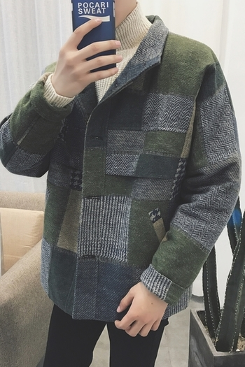 Κομψό ανδρικό παλτό μάλλινο