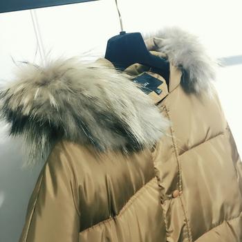 Μακρύ χειμωνιάτικο μπουφάν σε δύο χρώματα με κουκούλα