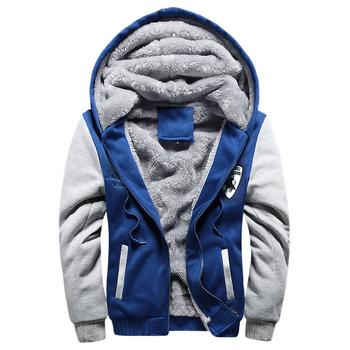 527b338ac480 Άνετο και πολύ ζεστό ανδρικό φούτερ με κουκούλα και μάλλινη μαλακή επένδυση