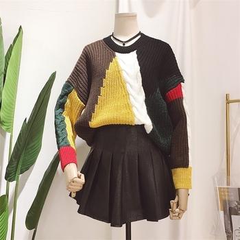 Цветен дамски пуловер, подходящ за зимата