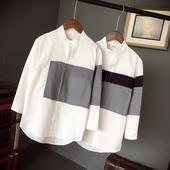 Мъжка стилна риза с попска яка и шарени мотиви , 2 модела