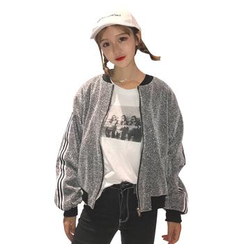 Дамско лъскаво бомбър яке