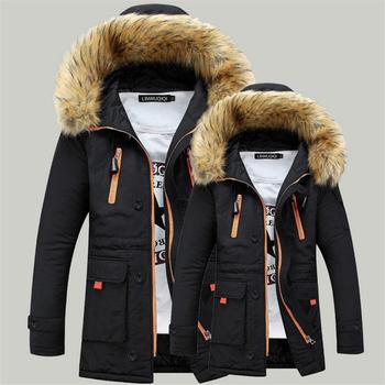 Топло мъжко зимно яке с пухена качулка , модел парка