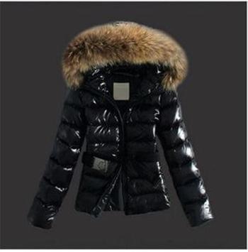 d22d2463bb9 Дамско зимно яке с колан и еко пух на качулката - Badu.bg - Светът в ...