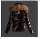 Κυρίες χειμωνιάτικο σακάκι με ζώνη και οικολογική κουκούλα στην κουκούλα