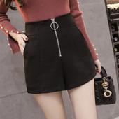 Много красива пола-панталон с висока талия,цип и пръстен на талията в два цвята