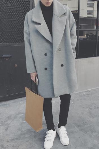 Κομψό αρσενικό φθινόπωρο-χειμώνα μακρύ παλτό σε τρία χρώματα - Badu ... f0c89638c25