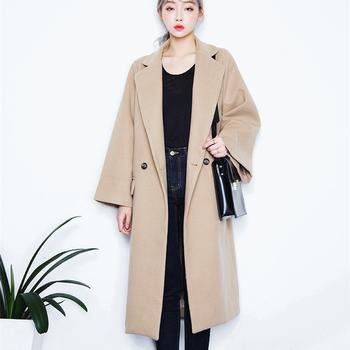 Κομψό μάλλινο μακρύ παλτό σε δύο χρώματα - Badu.gr Ο κόσμος στα ... c4854aa1c94
